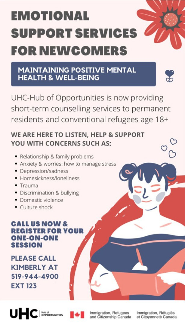 emotional support services for newcomers